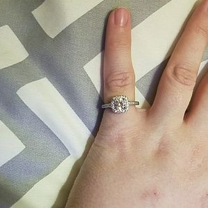 Size 5 Zales 925 SS Sapphire Ring